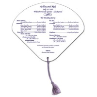 Seashell Paper Hand Fan With Optional Tassel