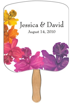 Floral Breadslice Wedding Fan